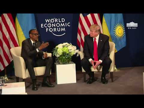 President Trump Participates in a Bilateral Meeting with the President of the Republic of Rwanda