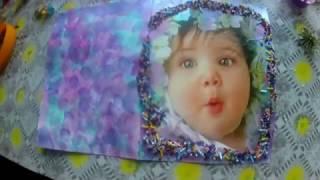 Поздравительная открытка с рождением дочери.