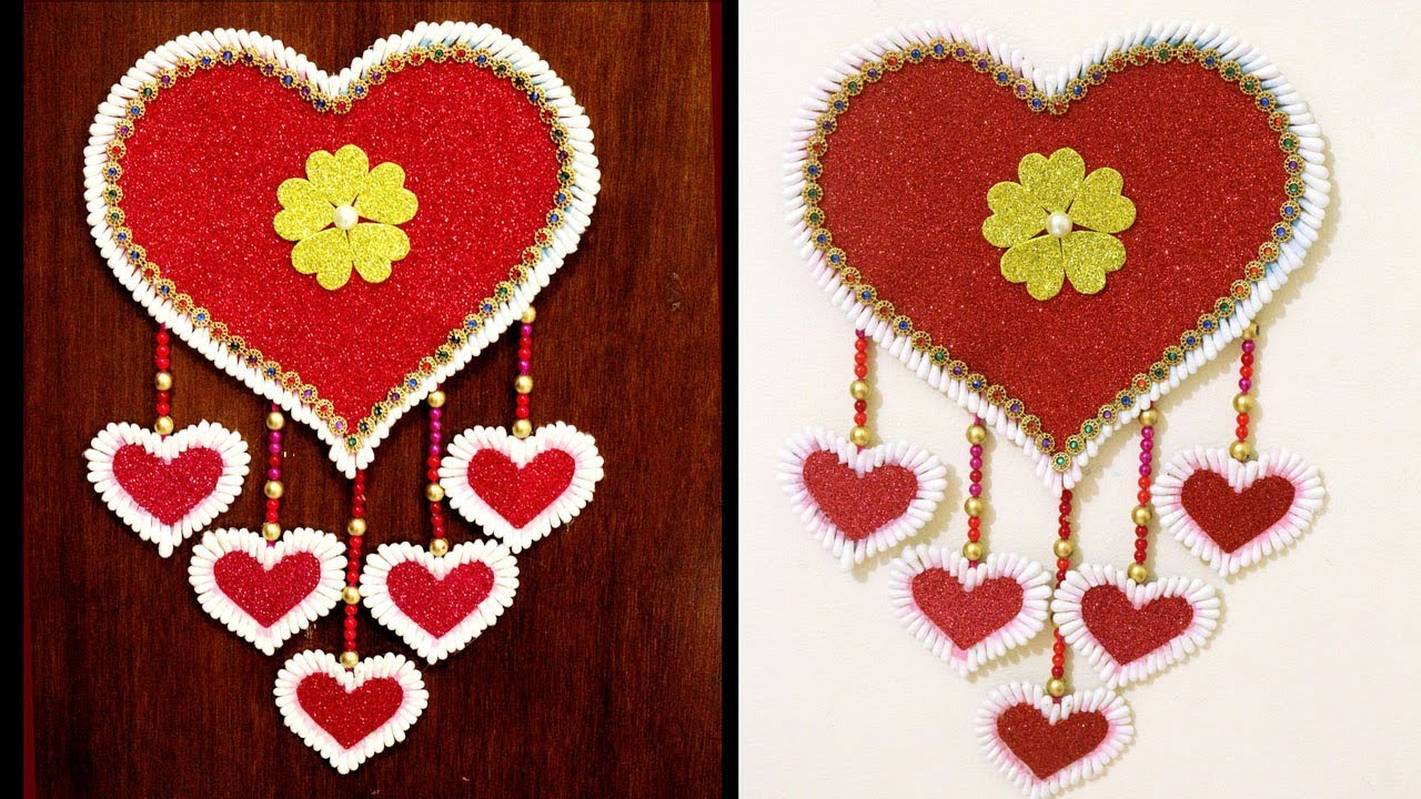 How To Make Wall Showpiece From Waste Material Craft Ideas With
