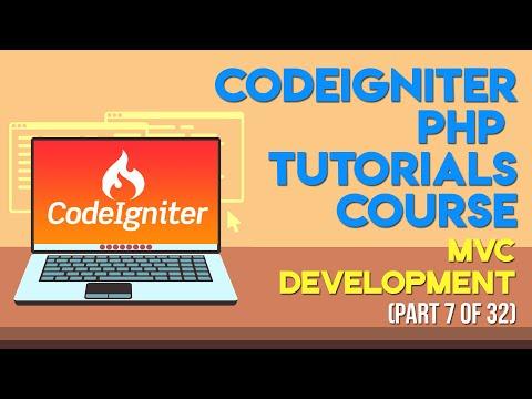 Codeigniter PHP Tutorials In Urdu/Hindi Part 7 MVC Development