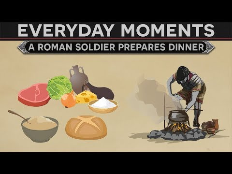 Everyday Moments in History - A Roman Soldier Prepares Dinne