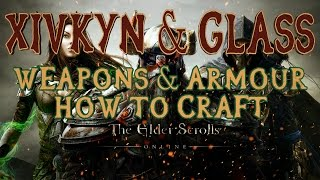 Elder Scrolls Online | How To Craft Xivkyn & Glass Armour | Motif Fragments, Charcoal & Malachite