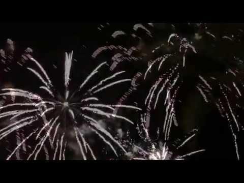 Салют видео высокого разрешения, фейерверки на день города