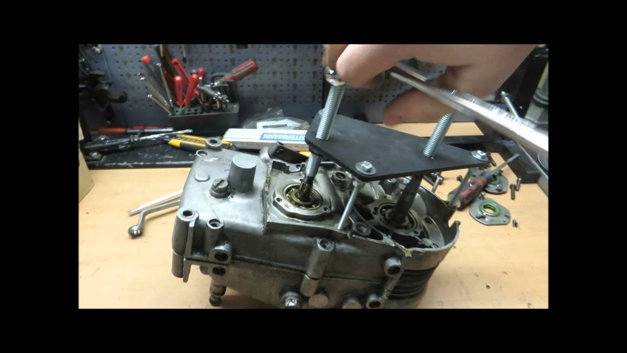 Simson Troubleshooting Motor M53 Demontieren Montieren
