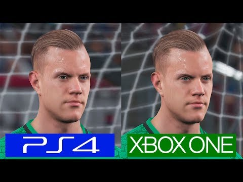 Pro Evolution Soccer 2018 PES | PS4 VS ONE | Graphics Comparison