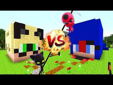 Casa vs casa ladybug vs catnoir minecraft bebe aenh doovi for Como hacer la casa de plantas vs zombies en minecraft