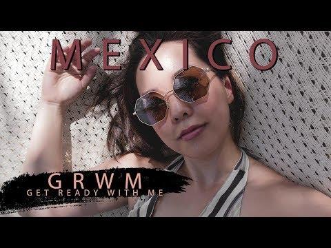 GRWM VACATION EDITION ∙ Skincare ∙  Makeup ∙ Sunscreen   Playa Del Carmen, Mexico