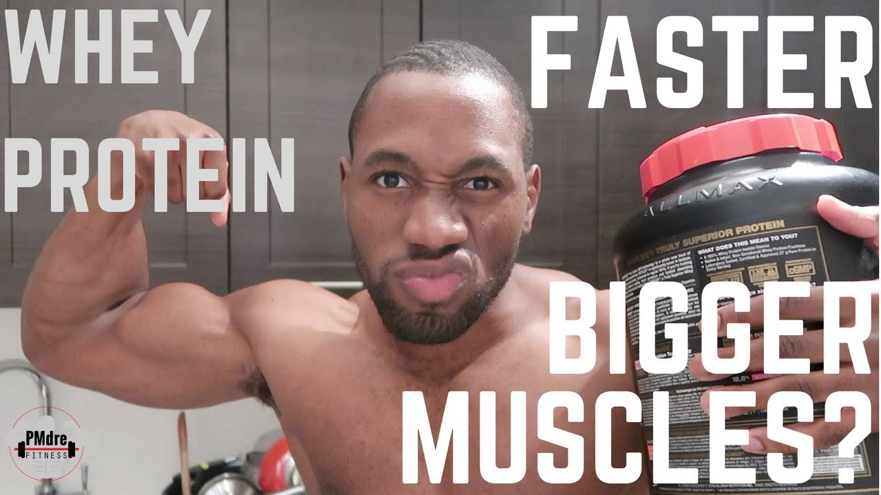 5e46ccd5054 Does Whey Protein Make You Build Muscle Faster   l PMdre Sunday Lecture