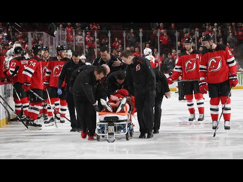Banged-Up Devils Lose Mirco Mueller to Scary Injury | New Jersey Devils Post Game