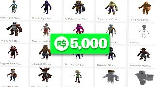 I bought ALL of the NEW Roblox RTHRO Packages