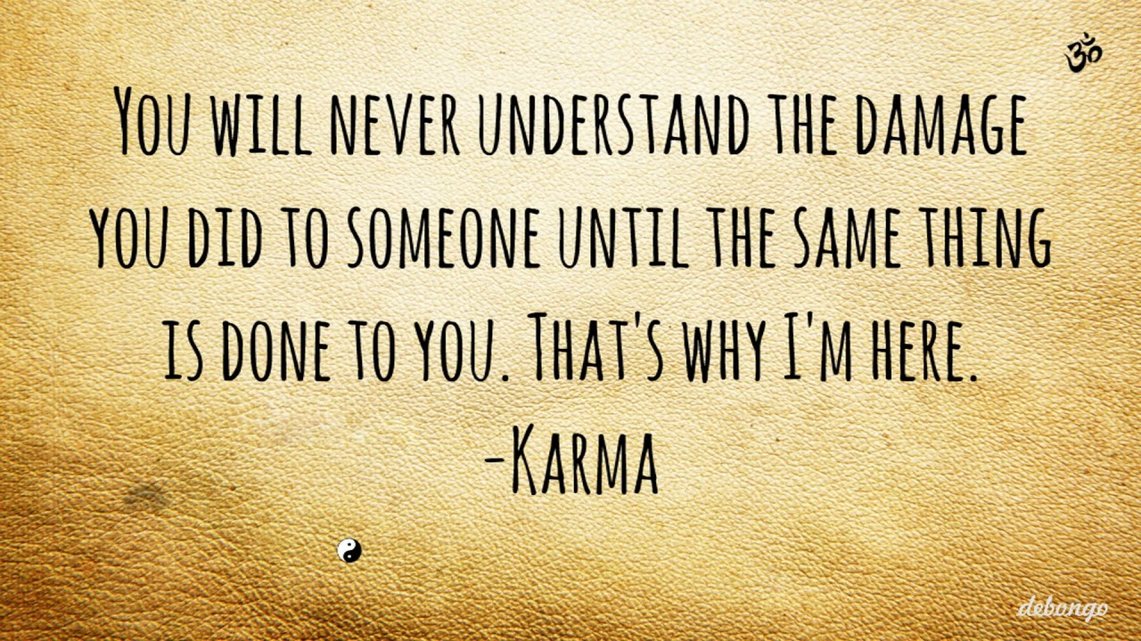 Thats Why Im Here Karma Quote Youtube