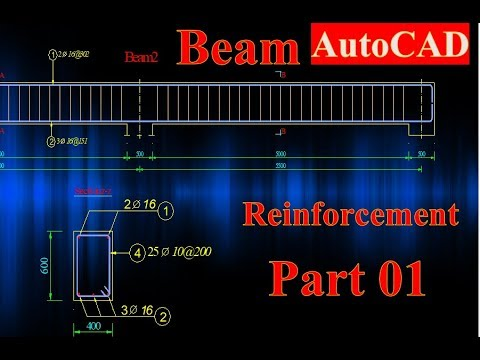 Beam Reinforcement Detailing in AutoCAD Part 01
