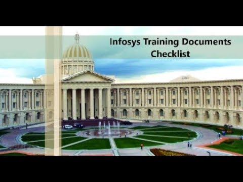 Infosys Training Important Documents Checklist Youtube