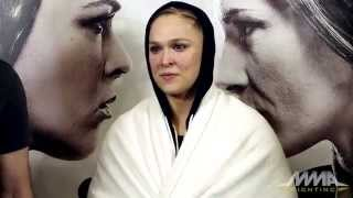 UFC 184: Ronda Rousey Fires Back at Arianny Celeste