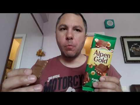 Обзор на шоколадку Альпен Гольд молочный с Фундуком