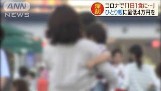 「コロナで1日1食に・・・」ひとり親に最低4万円を(20/05/19)
