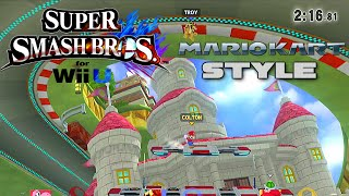 Super Smash Bros Wii U - Mario Kart Style! - Game Mode