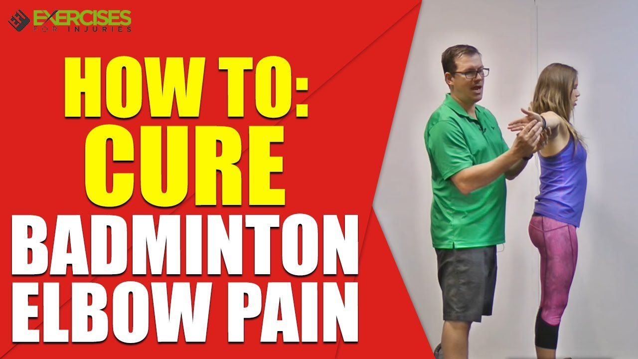 how to avoid elbow pain in badminton