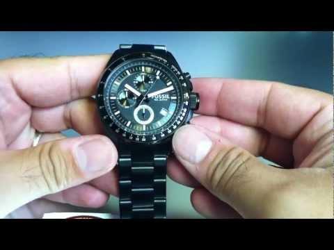 Black Fossil Decker Chronograph Watch CH2601