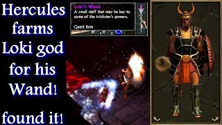 Titan Quest Ragnarok Hercules VS Loki farming for the Wand of god!
