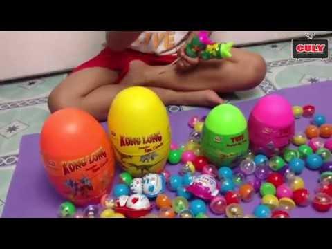 Bóc trứng bất ngờ socola và trứng khủng long đồ chơi trẻ em toy - Surprise eggs opening