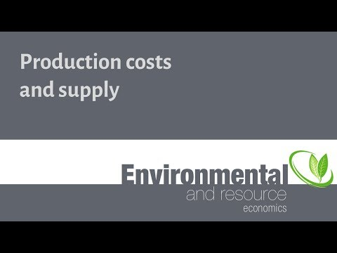 Production costs and supply