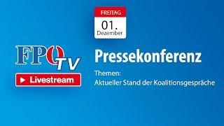 Pressekonferenz - Aktueller Stand der Koalitionsgespräche