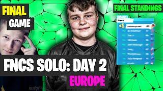 FINAL Game FNCS SOLOS EU Highlights - Fortnite FNCS Final Standings