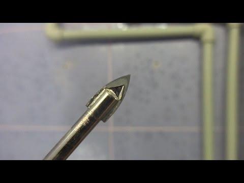 Drilling tiles. Сверление кафеля (керамической плитки).