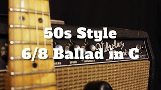 Cover images 50s Style 6/8 Ballad in C (Backing Track)