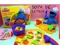 PLAY-DOH SOPA DE LETRAS CON EL MONSTRUO COME GALLETAS DE LA PLAZA SESAMO - DEMO EN ESPAÑOL