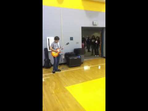 """South Vermillion Middle School Girls Basketball 2/13/13 """"The Star Spangled Banner"""""""