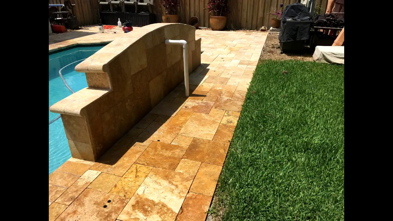 Pressure Washing And Sealing Travertine Stone Non Slip