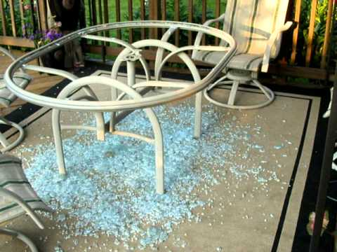 Glass Top Table Shattered Without Warning Dangerous Youtube