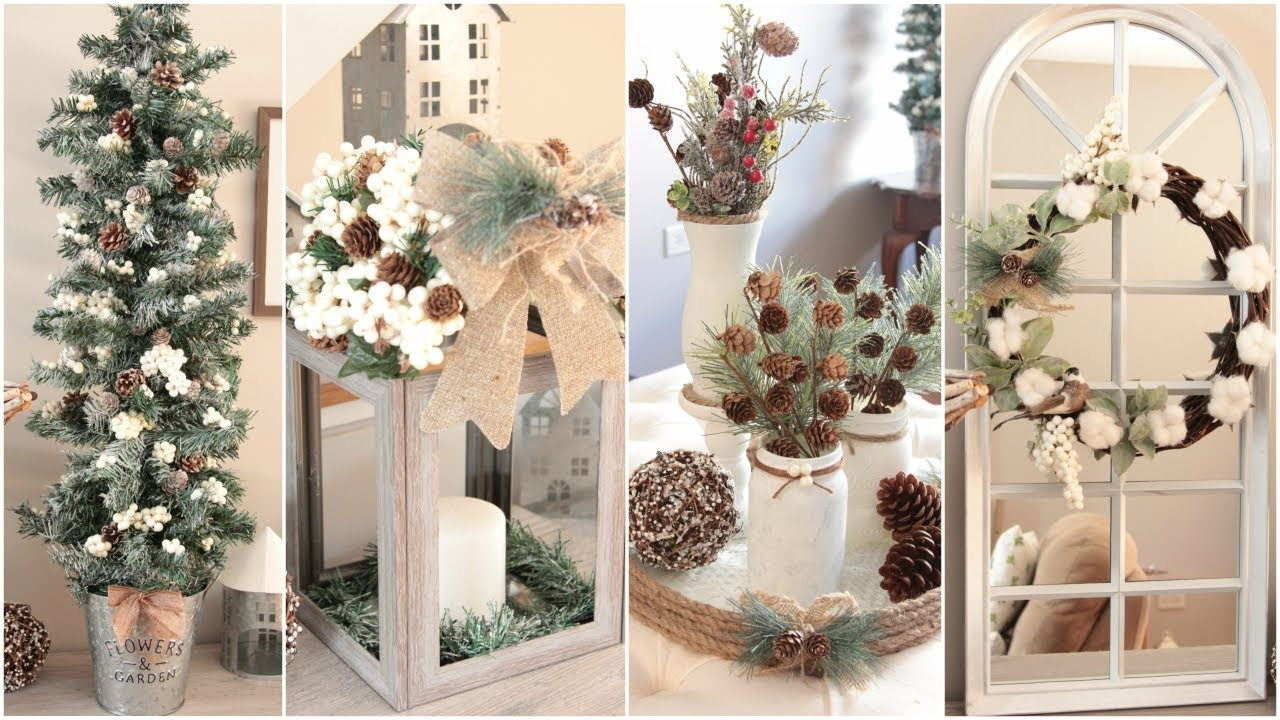 dollar tree farmhouse christmas decor diys - Christmas Decor Without A Tree