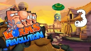 Worms Revolution #3 - Oh, ein Ufo! Multiplayer Gameplay
