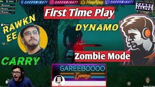DYNAMO FIRST TIME PLAY ZOMBIE MODE BY CARRY GAREEBO AND RAWKNEE   PUBG Mobile Zombie HIGHLIGHTS