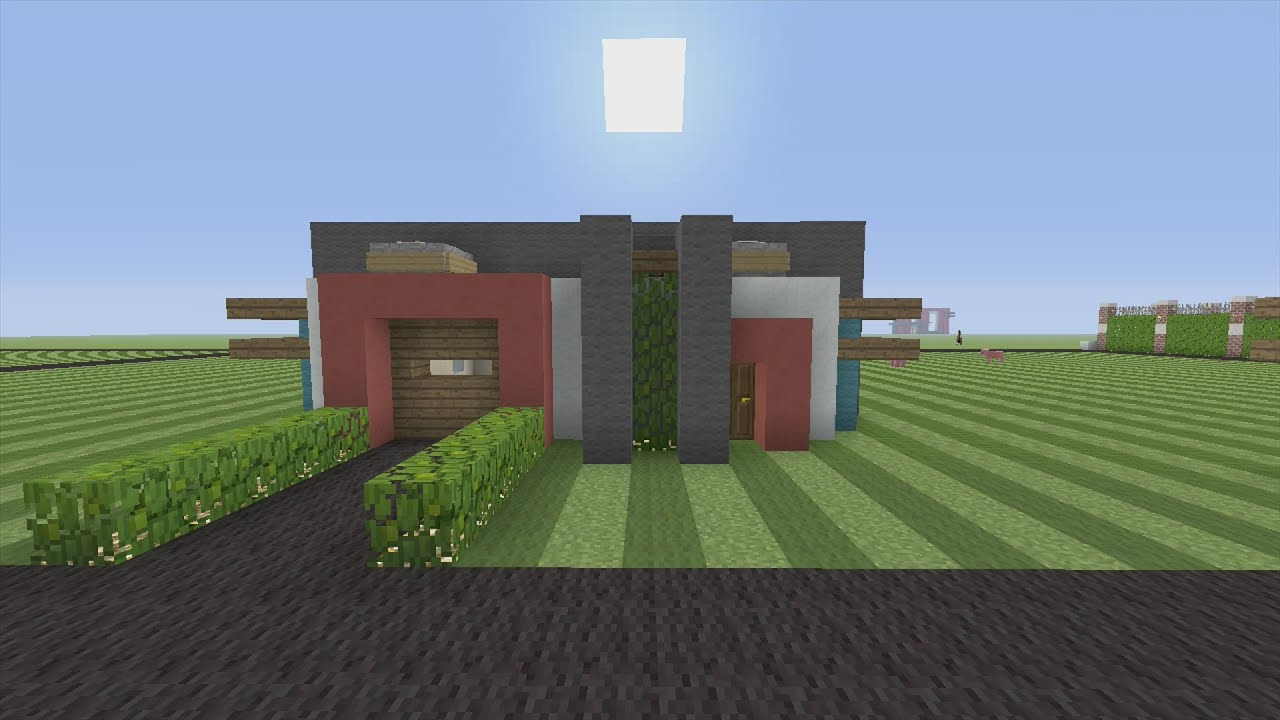 How to Build a Small Modern House in Minecraft YouTube