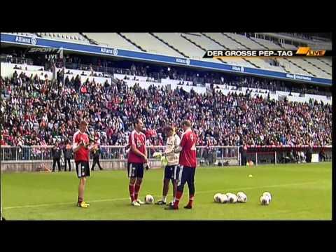 Pep Guardiola first Bayern Munich training session