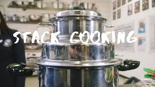 Stack Cooking in Saladmaster