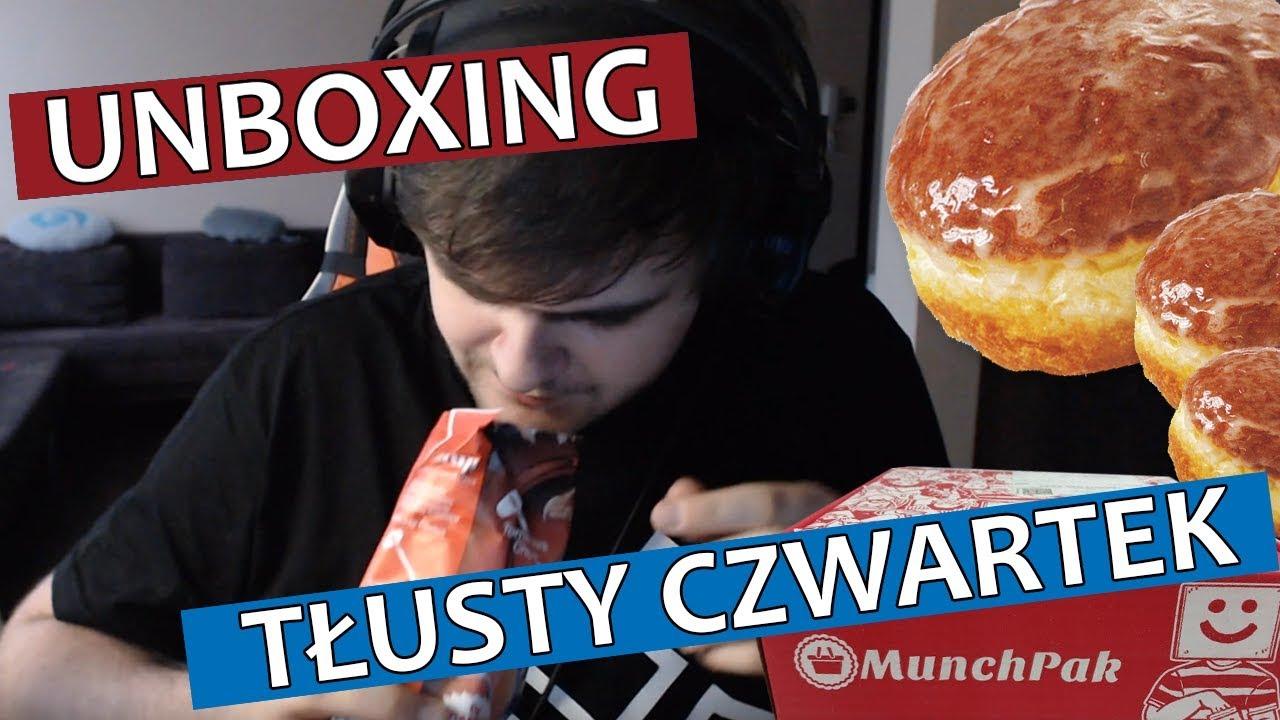 TŁUSTY CZWARTEK – Unboxing 2 paczek słodyczy Munchpak