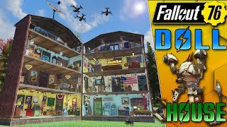 DOLL HOUSE CAMP BUILD!!! - FALLOUT 76 CAMP BUIILDING!