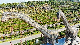 สวนนงนุชพัทยา เปิดตัว 2 ไดโนเสาร์ ซอโรโพไซดอน ใหญ่ที่สุดในโลก