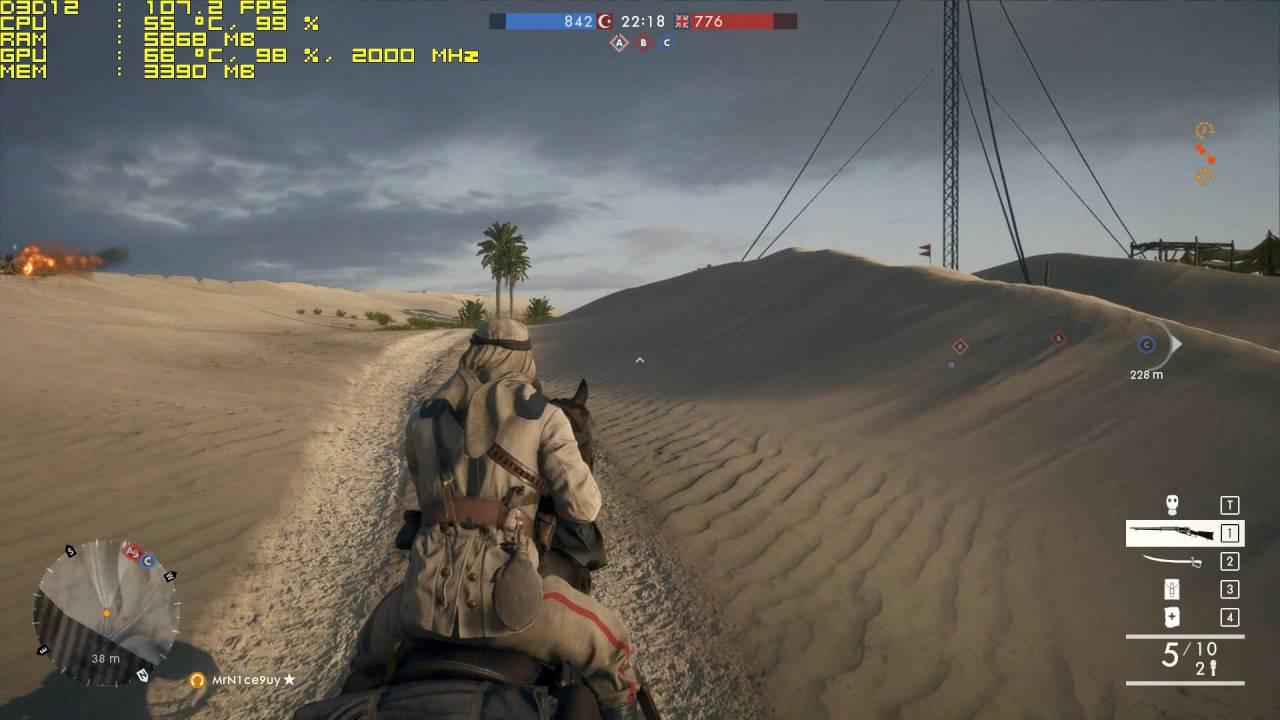 Battlefield 1 Bottleneck i5-4690(K) + GTX 1060 Ultra 1080p