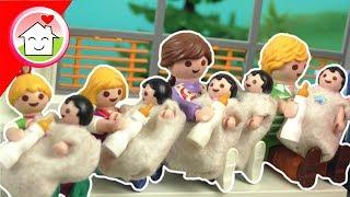 Playmobil Film Familie Hauser - Krankenhausroutine mit den Fünflingen - Spielzeug Video für Kinder