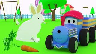Тед кормит животных - учимся вместе с поездом Тедом | Развивающий мультик для детей