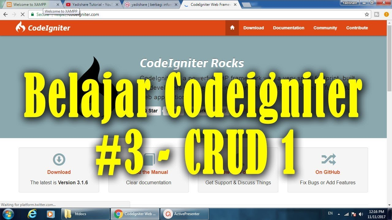CRUD CodeIgniter - cinemapichollu