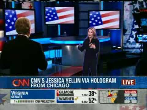 CNN Shows Off Hologram Technology - Presidential Election