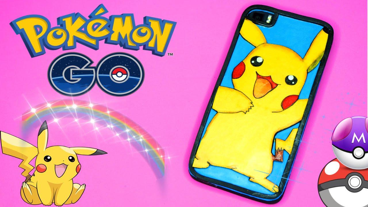 7bbe8eb09af Funda de móvil casera inspirada en Pikachu - Accesorios para Pokemon GO |  Manualidades