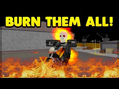 TROLLING AS GHOST RIDER ON SUPER POWER TRAINING SIMULATOR (ROBLOX)